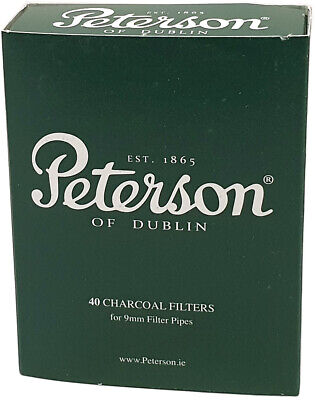 AU12.66 • Buy Peterson 9mm Charcoal Pipe Filters (Pack Of 40)