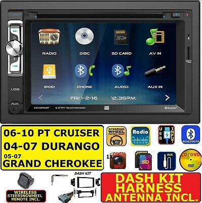 $229.99 • Buy 2004-10 Pt Cruiser Durango Grand Cherokee Cd/dvd/usb/sd Bluetooth Car Stereo Pkg