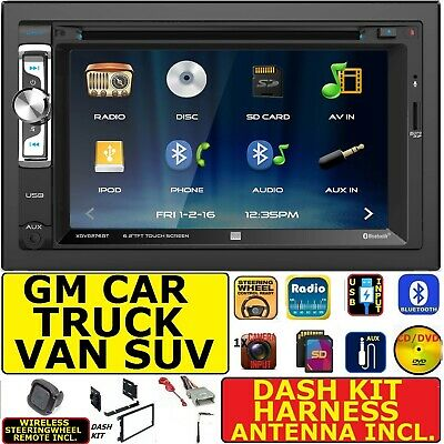 $189.99 • Buy 2000 & Up Selected Gm Car-truck-van-suv Cd/dvd Bluetooth Usb Aux Sd Car Stereo