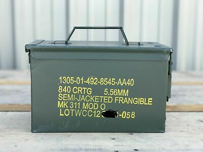 $14.99 • Buy 50 Cal Ammo Can Box With Semi-Jacketed Frangible Markings | MK311 M2A1 | Empty