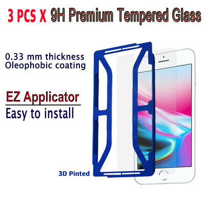 AU10.23 • Buy 3pcs X Tempered Glass Screen Protector With EZ Applicator For IPhone 8S/ 8 I8G3