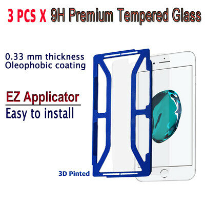 AU10.23 • Buy 3pcs X Tempered Glass Screen Protector With EZ Applicator For IPhone 7Plus I7PG3