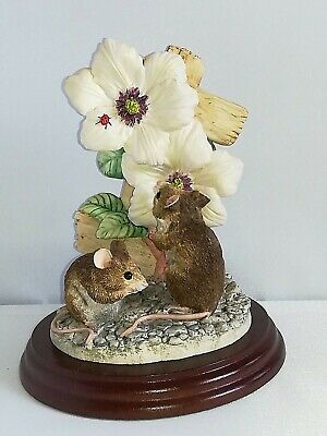 BORDER FINE ARTS, GARDEN GUESTS, MICE, 1997, BO199,Original, Very Rare, A. WALL. • 77.22£