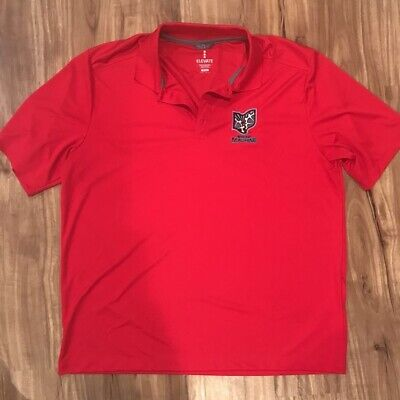 $24.99 • Buy Ohio Machine Elevate Mens Lacrosse Polo Shirt Red Short Sleeves Activewear XL