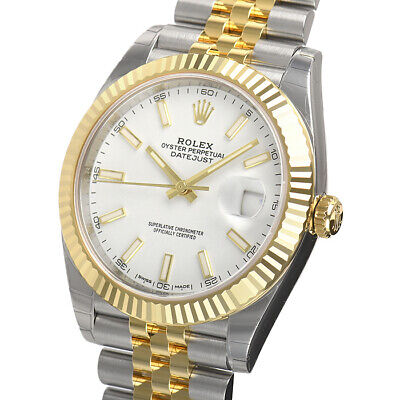 $ CDN17460.53 • Buy Rolex Datejust 41mm 126333 Steel Yellow Gold Jubilee White Index Dial Watch Auto