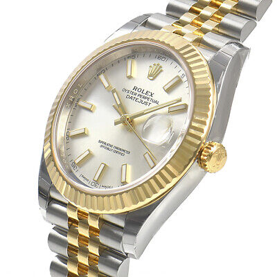 $ CDN17154.10 • Buy Rolex Datejust 41mm 126333 Steel Yellow Gold Jubilee Silver Index Dial Watch