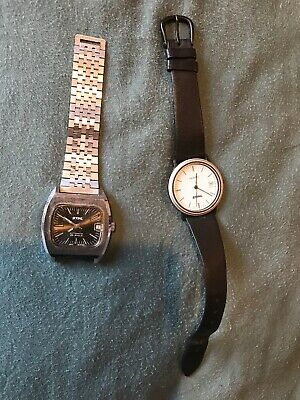 $ CDN150 • Buy STIHL WATCH RARE COLLECTABLE VINTAGE ORIGINAL WRISTWATCH CHAINSAW Lot Of 2