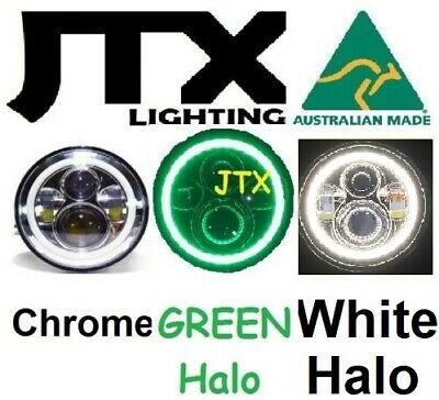 AU375 • Buy  7  LED Chrome Headlights GREEN & WHITE Ford Bronco PickUp F100 F150 F250 F350