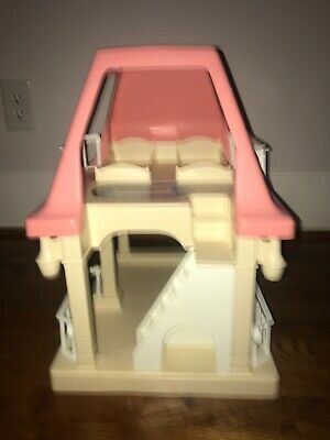 $44 • Buy Vintage LITTLE TIKES Dollhouse With Pink Roof GRANDMA'S COTTAGE Doll House Only