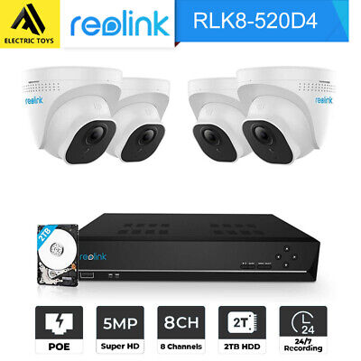 AU479 • Buy Reolink 5MP PoE Security Camera System 8CH NVR Video Surveillance RLK8-520D4-5MP