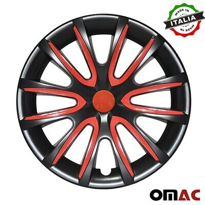 $59.90 • Buy 16  Inch Hubcaps Wheel Rim Cover  Black With Red For Subaru Impreza 4pcs Set
