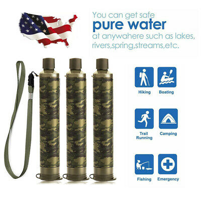 $29.99 • Buy 3 Pack Portable Water Filter Straw Purifier Camping Emergency Survival Tool