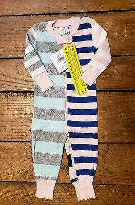 $19.99 • Buy NWT Hanna Andersson Baby Mix Up Sleeper Size 60 Striped Girl's Pajamas PJs