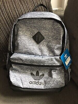 $32.99 • Buy Adidas TREFOIL Originals Youth Base 18  Backpack Gray Black LAPTOP SCHOOL BAG