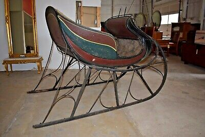 $2750 • Buy Antique Albany Cutter Sleigh By Donald McKenzie Canada Horse Drawn Sled
