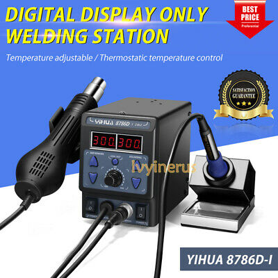 AU93.58 • Buy New YIHUA 700W 8786D-I 2in1 Soldering Rework Station Iron ESD Welder Hot Air Gun