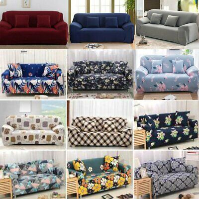 AU38.99 • Buy 2 3 4 Seater Stretch Sofa Cover Chair Couch Lounge Recliner Slipcover Protector