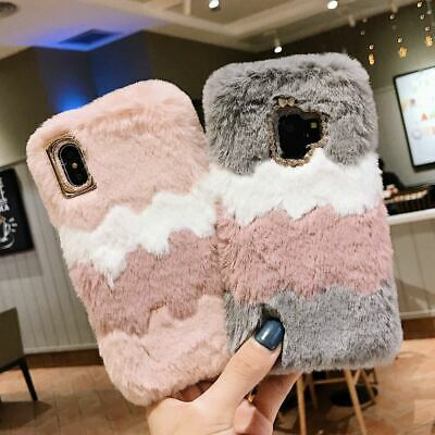 Soft Warm Plush Fluffy Phone Case Cover Comfy Faux Fur For Samsung IPhone Models • 5.25£