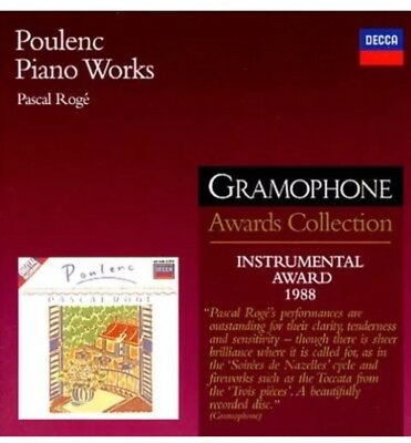 £21.72 • Buy Poulenc Piano Works Pascal Roge Gramophone Awards Collection Cd ~2003 NEW/SEALED