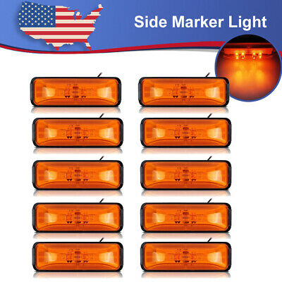10x4  Clearance Light Side Marker Light Trailer Light LED 12V Truck RV With Base • 27.47$