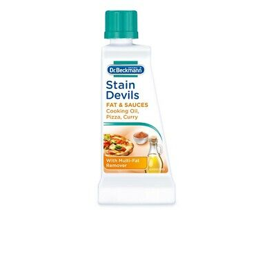 DR Beckmann Stain Devils Remover Cleaner Fats Sauces Oil Pizza Curry Wash 50ml  • 2.99£