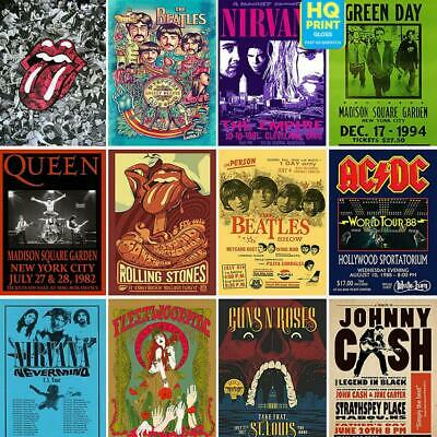 $6.87 • Buy VINTAGE RARE BAND ROCK Concert Tour Music ACDC NIRVANA Posters | A4 A3 A2 A1 |