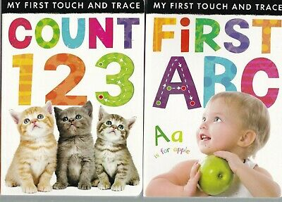 £6.99 • Buy First Abc & 123 - 2 X Board Books - Touch And Trace Lift The Flap  - Age 2-3