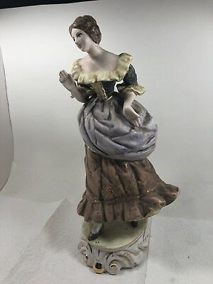 $ CDN52.99 • Buy Liani Hand Painted Porcelain Lady Figurine 8""