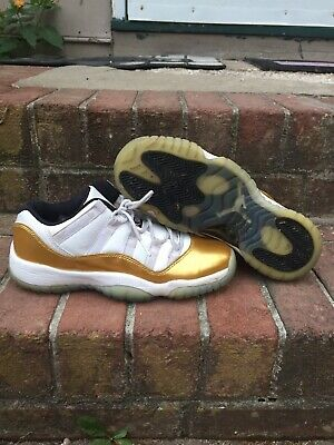 Jordan 11 Low Closing Ceremony 528896-103 Size 6.5Y Womens 8 Gold Medal • 44.99$