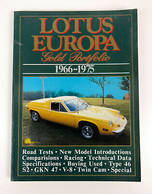 $ CDN24.95 • Buy Lotus Europa Gold Portfolio 1966-1975 Paperback Book Brookland Books