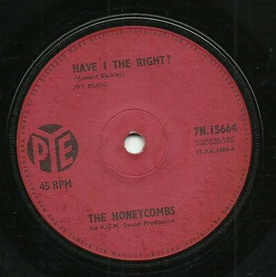 The Honeycombs – Have I The Right?   VG   1964   7  Single • 1.99£