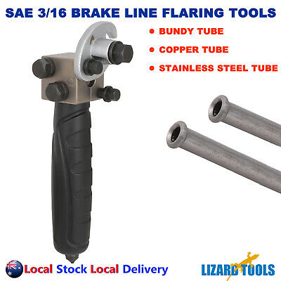 AU52 • Buy 3/16  4.75 Mm SAE Double Flare Flaring Tool Inline Brake Line Pipe Bundy Tube