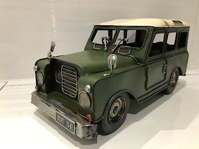 Large Vintage Transport Land Rover Defender 4 X 4 Model Metal Tin Ornament • 30.89£