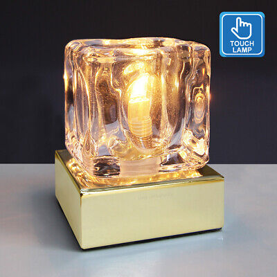 £13.99 • Buy Dimmable Touch Table Light Glass Ice Cube Bedside Study Office Dimmer Lamp M0110