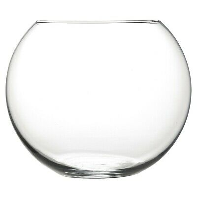 **SECONDS** Glass Fish Bowl Vases - Various Sizes - Slight Vase Imperfections • 6.99£