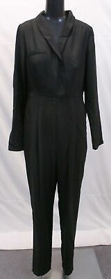 $17.99 • Buy ASOS Women's Long Sleeve Tall Tux Jumpsuit SH3 Black Size US:8 UK:12 NWT