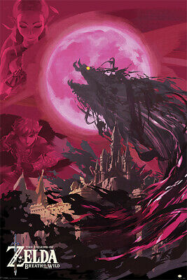 $10.50 • Buy LEGEND OF ZELDA - GANON BLOOD MOON POSTER - 24x36 - 3356