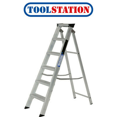 Youngman Industrial Builders Step Ladder 6 Tread SWH 2.60m • 69.98£
