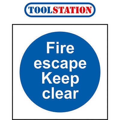 Fire Safety Sign Fire Escape Keep Clear • 1.54£