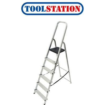 Youngman High Handrail Step Ladder 6 Tread SWH 2.97m • 49.98£