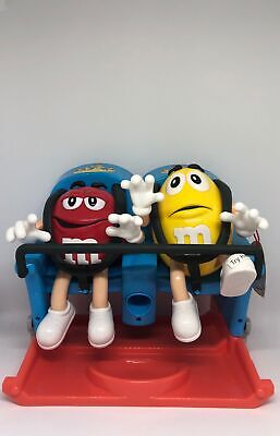 $36.11 • Buy M&M's World Roller Coaster Candy Dispenser Red Yellow New With Tag