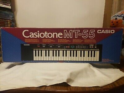 $99.99 • Buy Casio Casiotone Mt-55 Keyboard Free Shipping Tested Box Power Supply Vintage Euc
