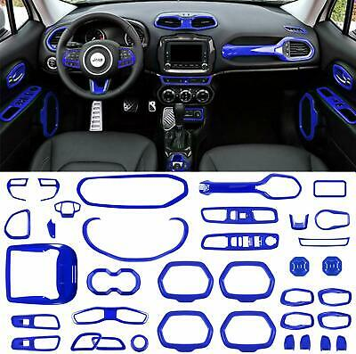 $179.99 • Buy 36 Pcs Car Interior Accessories Decoration Cover For Jeep Renegade 2015-2020 Blu