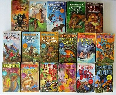 Piers Anthony Lot Of 17 Xanth Series Paperback Books #2-11; 13-17,19,27 • 49.99$