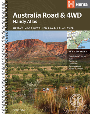 AU28.85 • Buy Hema Australia Road & 4WD Handy Atlas 12th Edition Spiral 188 New Maps Tracks