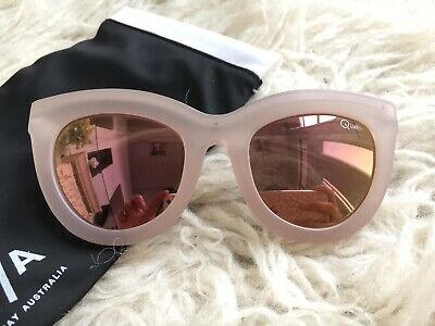 AU29.99 • Buy Quay 😎 Eclipse 3.5 Pink Cat Eye Mirror Reflective Oversized Sunglasses