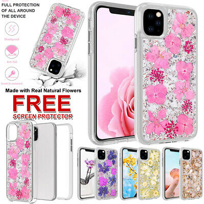 AU4.99 • Buy For Apple IPhone 12 Pro Max 11 Luxury Durable Gold Foil Glitter Real Flower Case