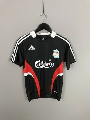 ADIDAS LIVERPOOL FC Retro T-Shirt - Small - Black - Great Condition - Men's • 24.99£
