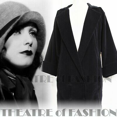 JACKET COAT VINTAGE 12 14 16 18 1920's COCOON 20's DROOPY AND BROWN • 725£