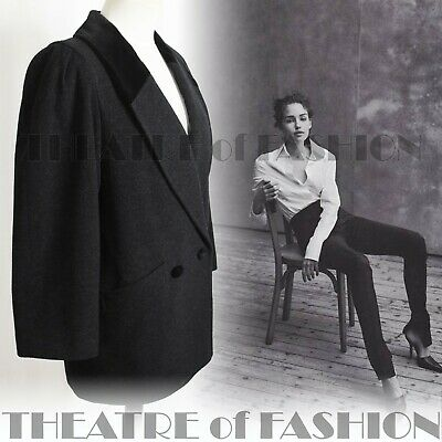 JACKET COAT VINTAGE VELVET BLACK 1920's 10 12 14 16 FASHIONISTA CITY CHIC • 95£